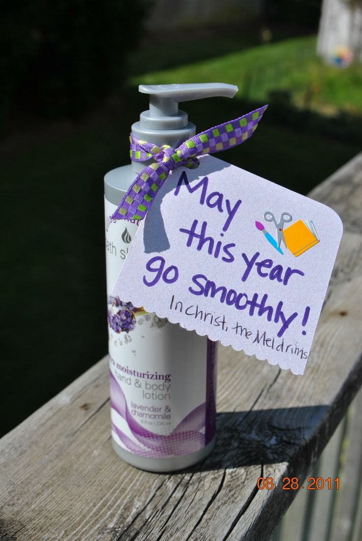 "Thand/body lotion  teacher gift?  new year neighbour gift ?  ""my this year go smoothly"""
