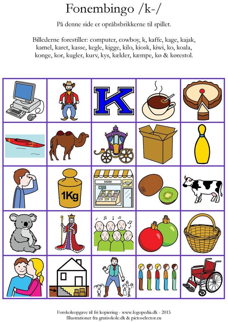 (2015-01) Fonembingo - alle ord begynder med /k/