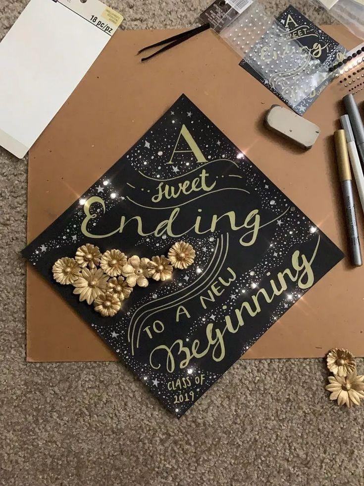 40 Creative Ideas To Make Your Own DIY Graduation Cap Decoration #graduationcapdecoration #diygraduationcap #graduationcap » tendollarbux.com