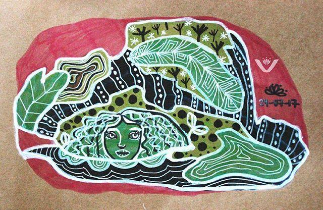 Camuflada. #camuflaje #camouflage #naturaleza #nature #green #silvestre #plantas #plants #verde #draw #sketchbook