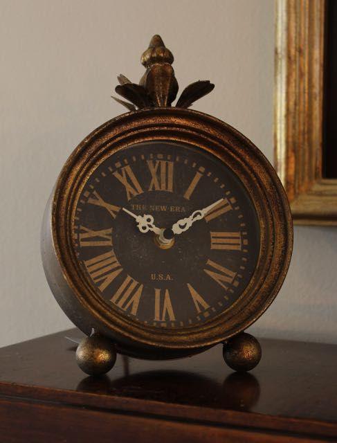 Metal Mantle clock for sale at Vintage American Home $30