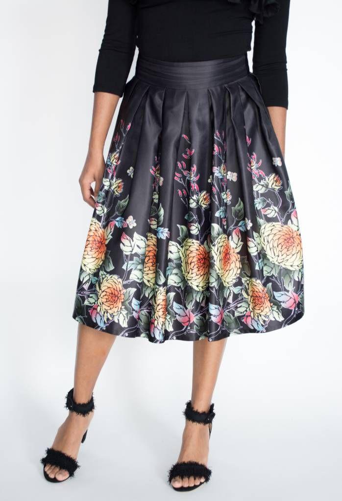 2071d96c0b Gracia Oriental Skirt, Black Style #S22665 | shopeechicago.com ...