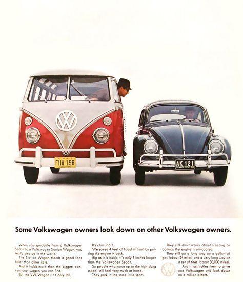 VW Volkswagen Bus And Beetle Kaefer - Mad Men Art: The 1891-1970 Vintage Advertisement Art Collection