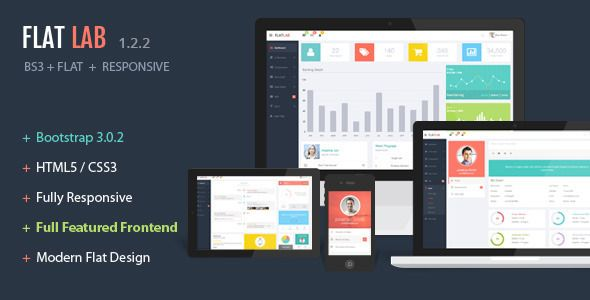 FlatLab is a Premium Admin Dashboard template with real flat design concept…