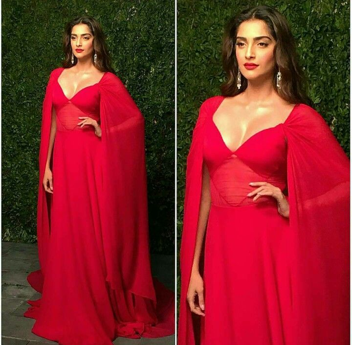 Sonam kapoor in red hot dress