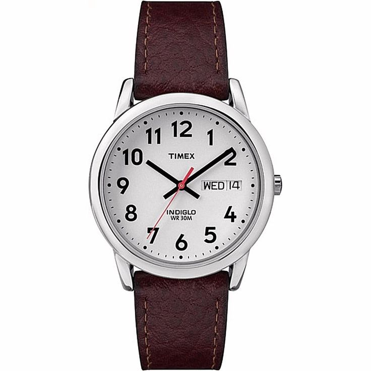 Timex Easy Reader Men's Watch With Leather Brown Textured Strap Classic          #Timex