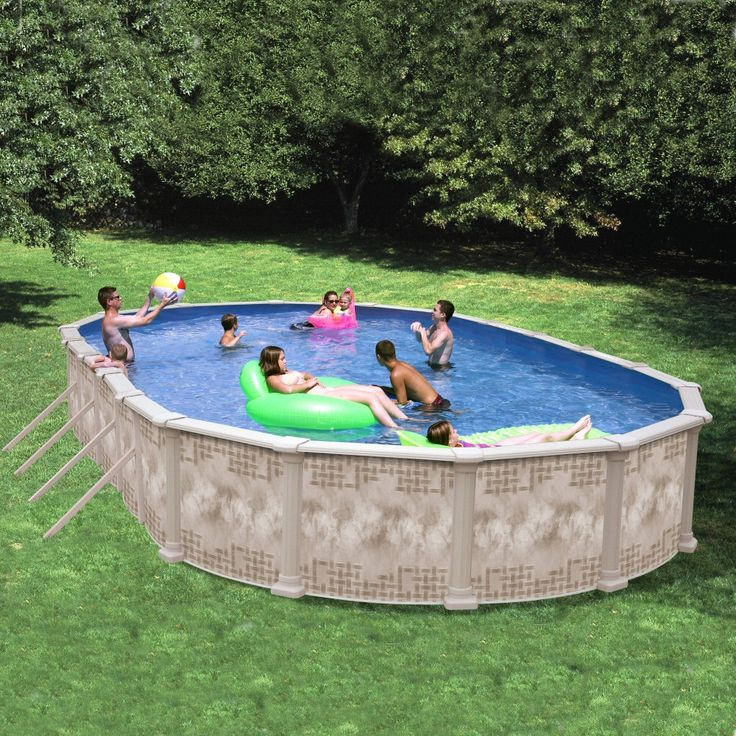 25 Best Ideas About Oval Above Ground Pools On Pinterest Oval Pool Swimming Pool Decks And
