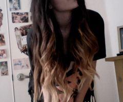 two colored long hair: Hair Ideas, Ombre Hair, Black Hair, Dreams Hair, Long Hair, Blond, Hair Style, Hair Color, Hipster Hair