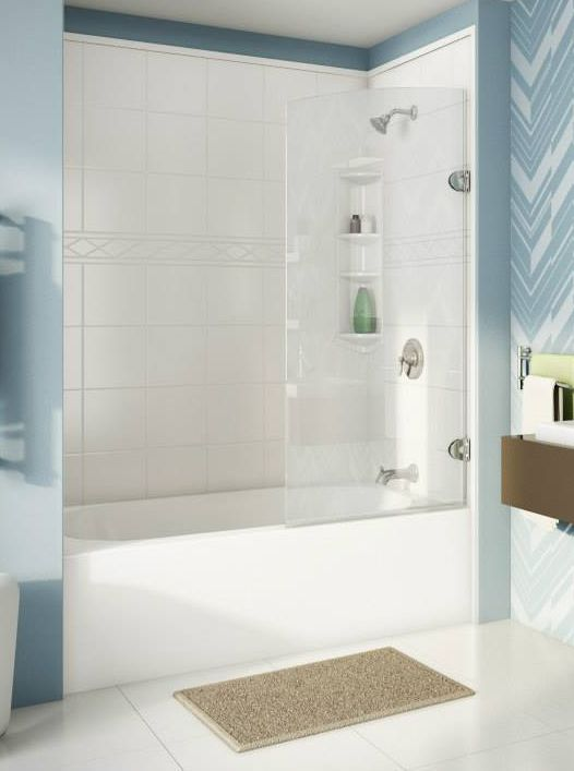 Cool blues will calm and relax you!   Bath Fitter NW