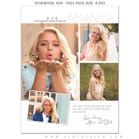 Senior Yearbook Ads Photoshop Templates Your Smile by ashedesign