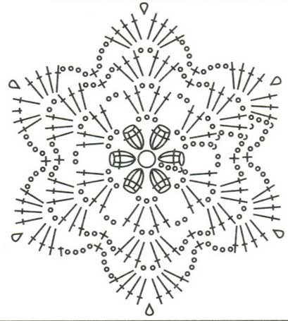 Схема к шестиугольному мотиву 55