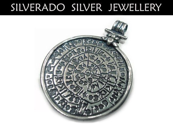Ancient Greek Minoan Big Phaistos Disc by SilveradoJewellery, €90.00