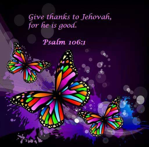 2015 Year Text - Praise Jah! Give thanks to Jehovah, for he is good; His loyal love endures forever. - Psalms 106:1