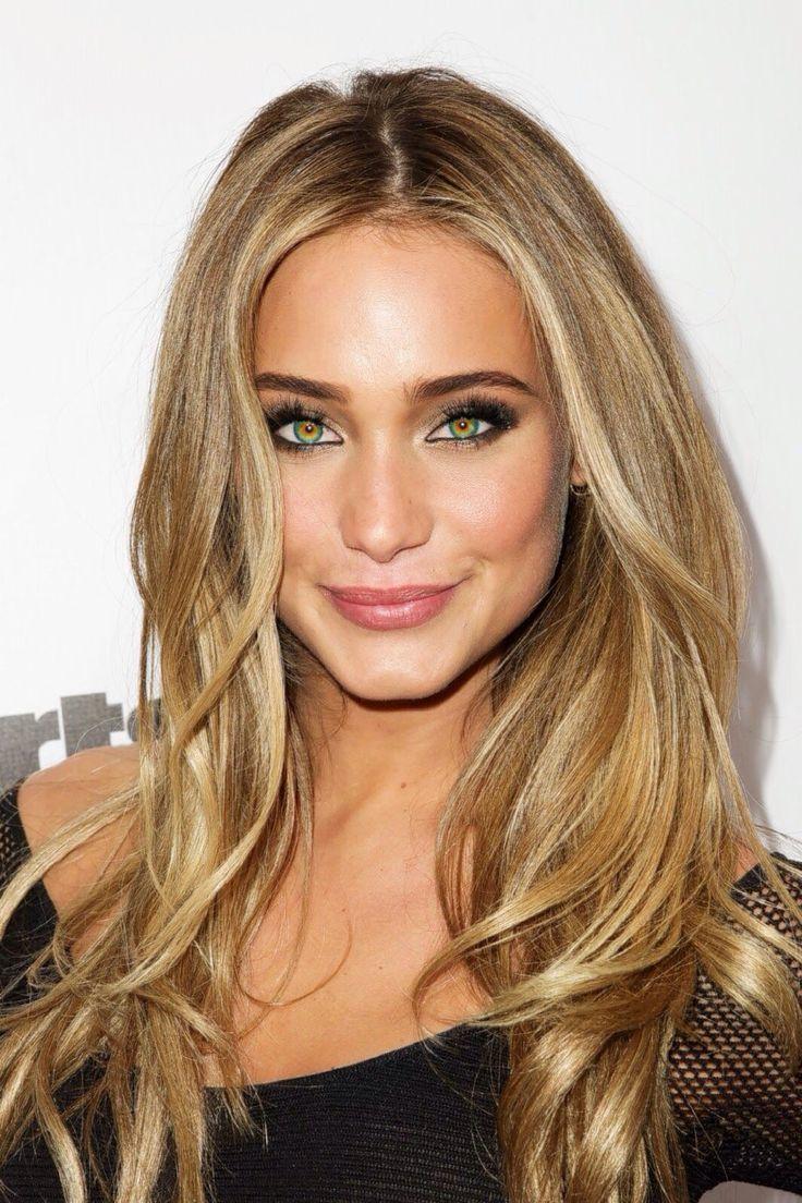 dark #eyebrows with dark medium and light champagne #blonde hair