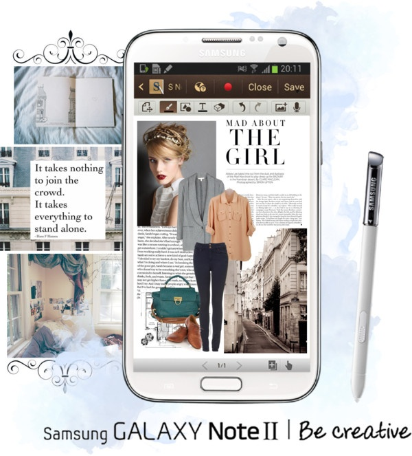 """""""Create a Downtown Muse look for a chance to win a Samsung GALAXY Note II!"""" by kayla-is-a-dreamer ❤ liked on Polyvore"""