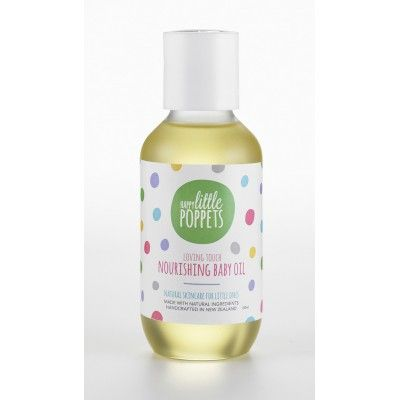 Happy Little Poppets Nourishing Baby Oil is great for soothing nappy rash and as an expectant mums' belly rub. Ideal New Zealand Made mother and baby gift  See more at www.entirelynz.co.nz/skincare