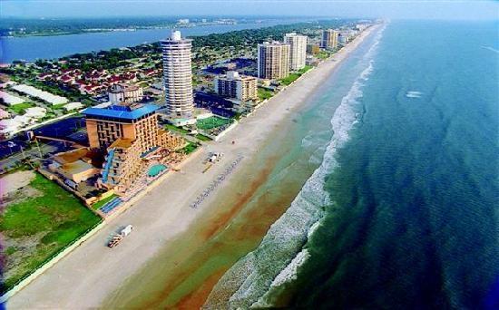 Shoreline along Daytona Beach Shores...