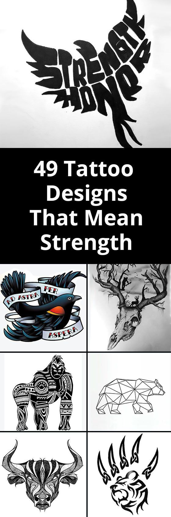 Tattoos that represent strength have a lot of potential symbols and icons that can be incorporated into a design.People who...