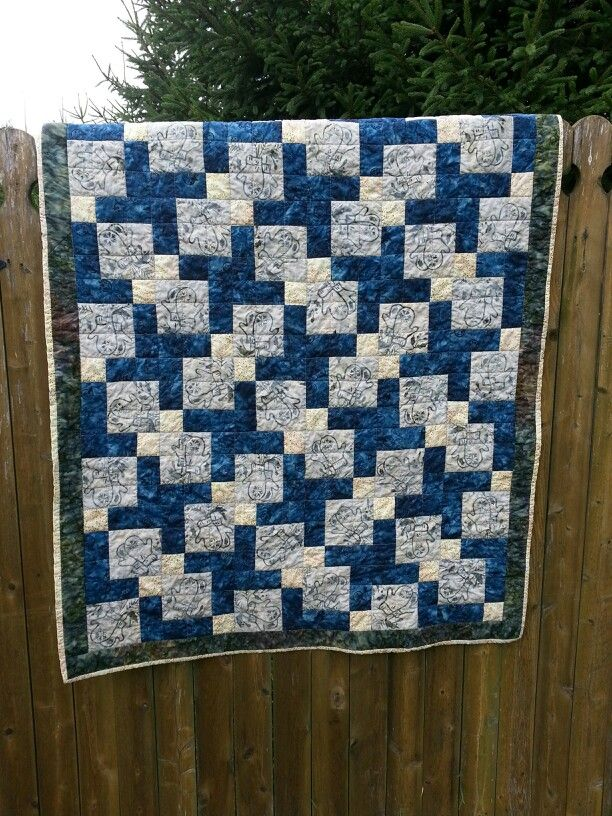 Meags quilt-Tossed Mittens, a disappearing nine patch quilt ♡