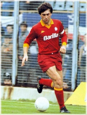 Carlo Ancelotti (Reggiolo, 10 June 1959) – The prototypical modern attacking midfielder: versatile, fast, with good close control and vision, quick on the break from midfield, good at beating his man and capable of getting crosses in.