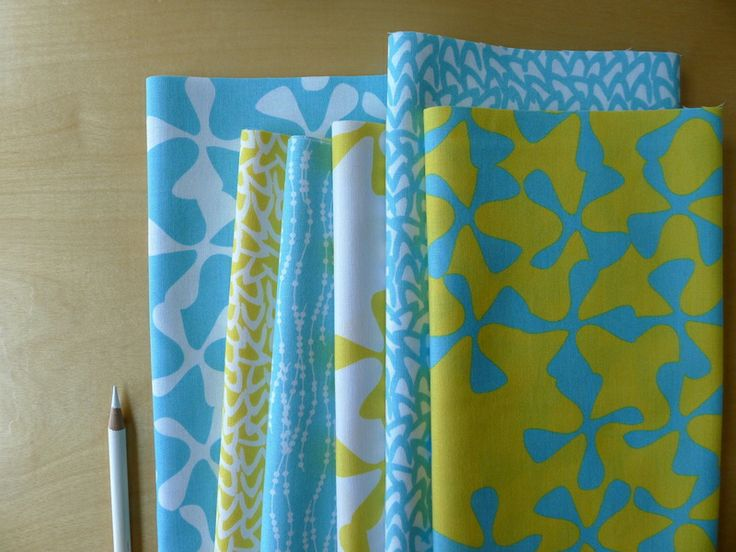 Cool Blues + Sunshine Yellow = Sphere   Zen Chic for Moda  New Fresh Bright Summer Quilting Craft Fabric