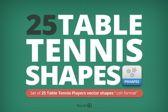 I just released 25 Table Tennis Players shapes on Creative Market.