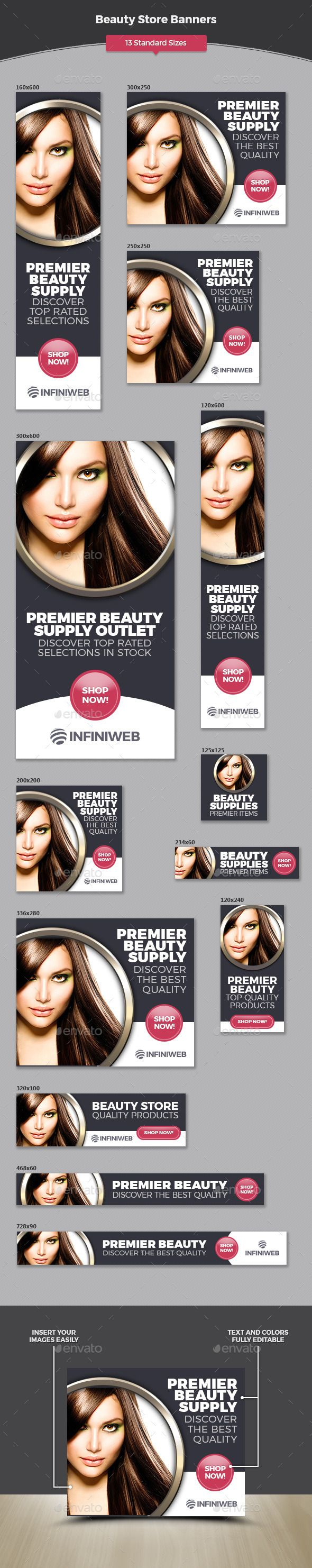Beauty Store Banners Template #design #ads Download: http://graphicriver.net/item/beauty-store-banners/12741563?ref=ksioks
