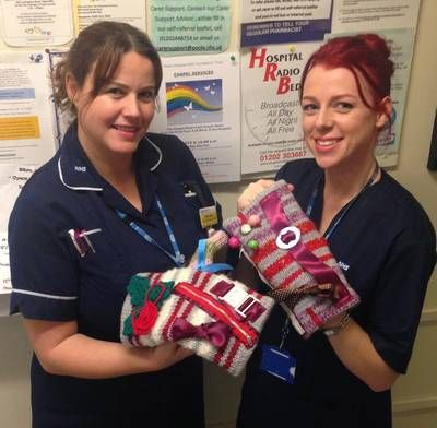 Memory mitts provide something patients can hold and 'twiddle', helping to reduce anxiety and promote calm. Senior nurses at Poole Hospital are urging keen knitters to make and send in special 'memory mitts' to support the care of patients with dementia in hospital.