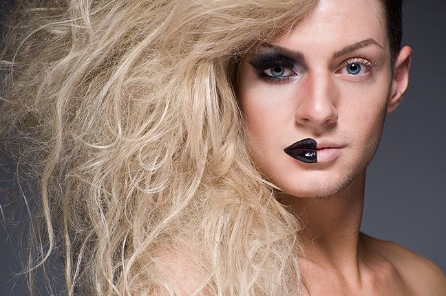 Neat photography: Two Faces, Leland Bobbé, Half Drag, The Faces, The Queen, Photography Portraits, Drag Queen, Halfdrag, Dragqueen