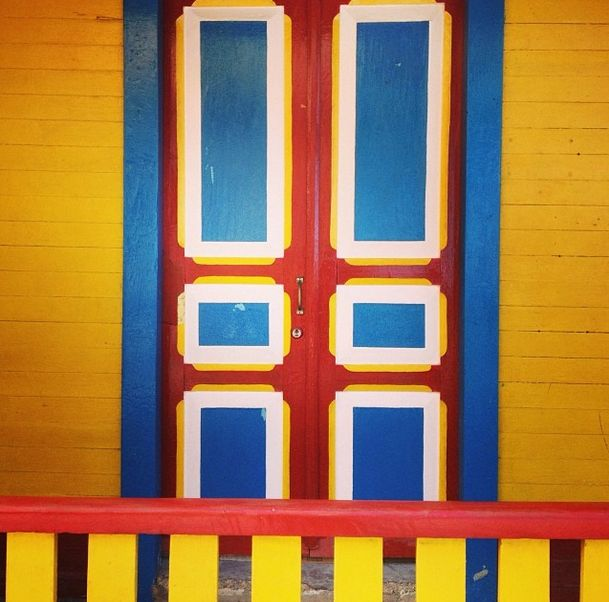 Colourful doorway - travelling
