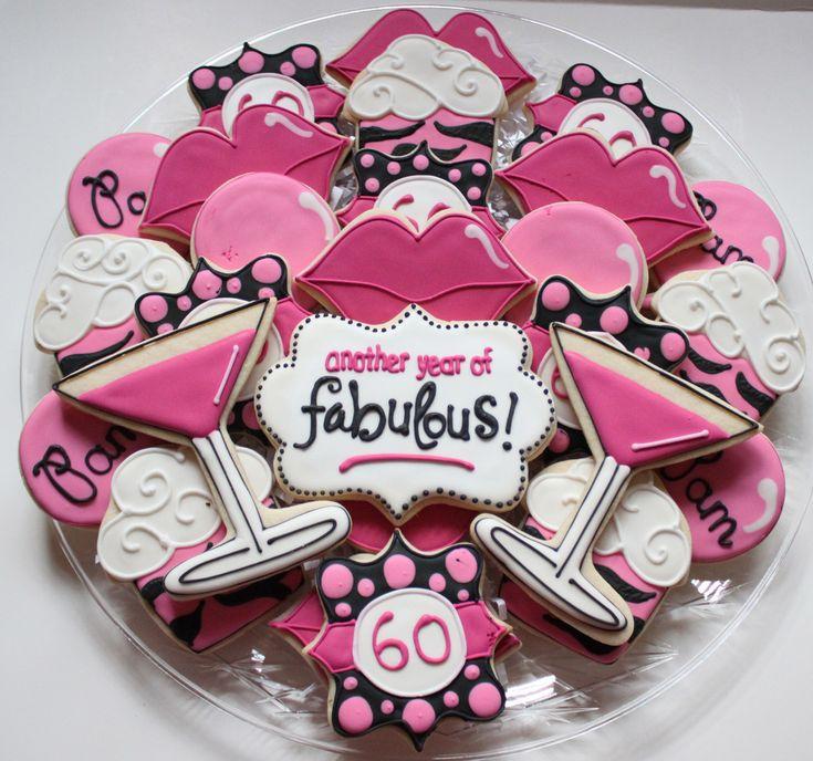 60th Birthday Cookies Misc Cookie Ideas Pinterest