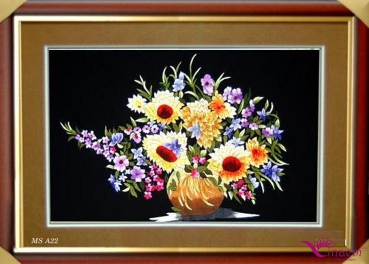 Vietnam hand Art emrbroidery Picture- a22