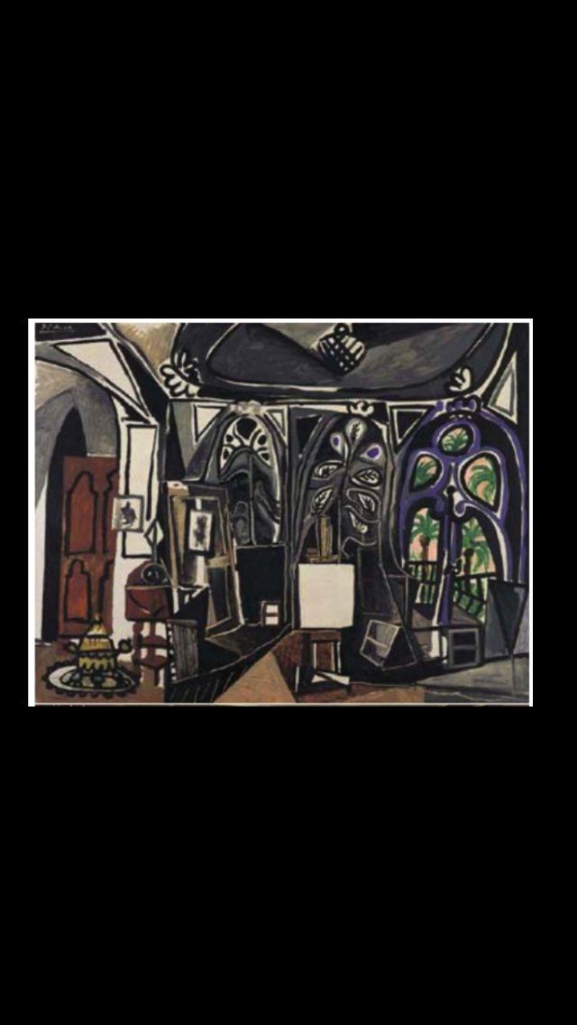 """Pablo Picasso -"""" L'Atelier II """", Cannes 1 IV 1956 - Huile sur toile - 89 x 116 cm (..)"""
