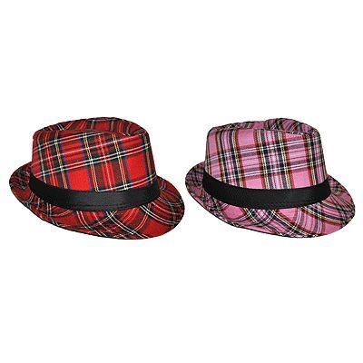 Hoedje met Schotse ruit en band roze  Al Capone hoed schotse ruit roze. Leuke feest hoed met Schotse ruit en zwarte band.  EUR 7.99  Meer informatie