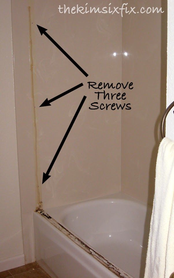 Removing Sliding Glass Shower Doors (Flashback Friday) via www.TheKimSixFix.com