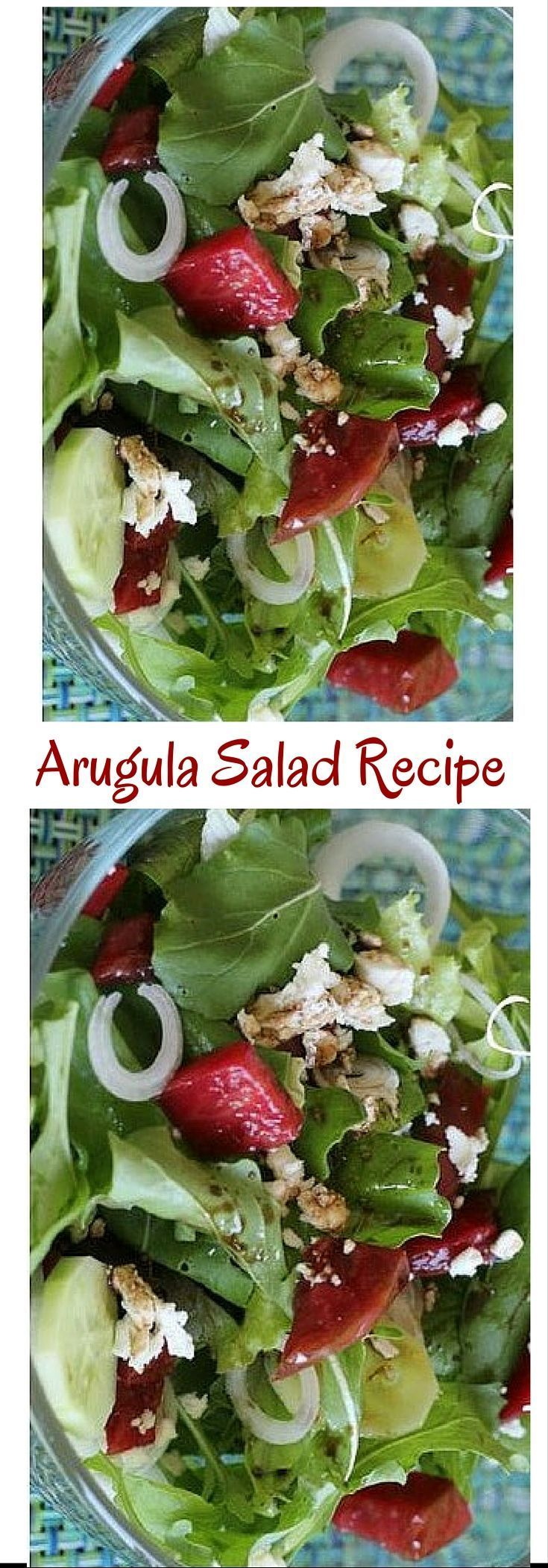 Craving arugula salad? his arugula salad is very easy to make. Click here for the recipe or Pin to save for later.