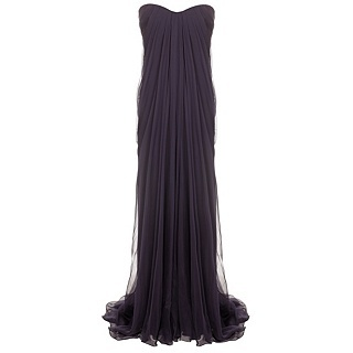 Pair this Alexander McQueen gown with: sun kissed skin, gold strappy heels, gold jewelry and hair softly swept to the side <3