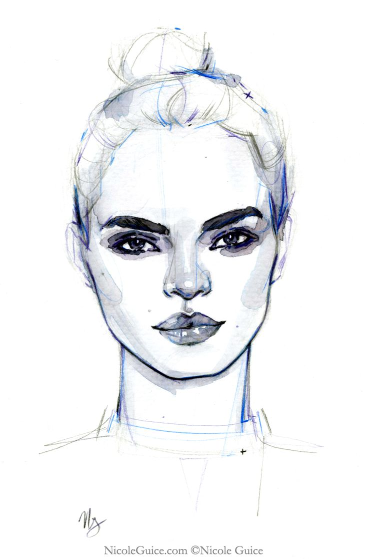 best 25 face illustration ideas on pinterest watercolor