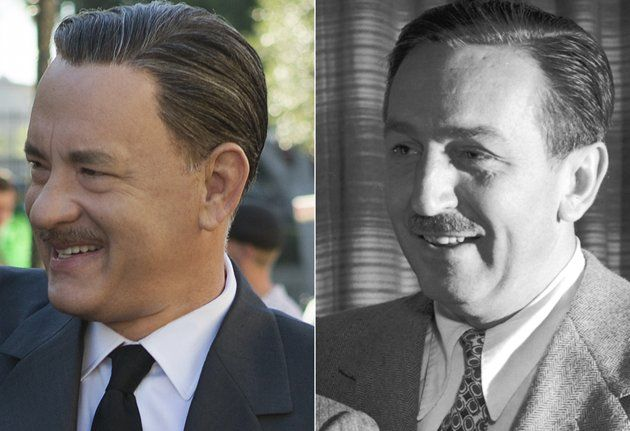 """Tom Hanks as Walt Disney. """"Saving Mr. Banks"""" tells the true story of how Walt Disney persuaded author P.L. Travers to trust him with the film rights to her classic children's book """"Mary Poppins"""".  Tom Hanks doesn't look so much like Uncle Walt but he does get his neatly trimmed mustache and the playful twinkle in his eye just right."""
