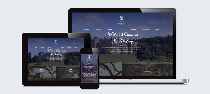Chipchase Castle UK: Responsive Website Design, Development and Management by Electrik Design Agency www.electrik.co.za