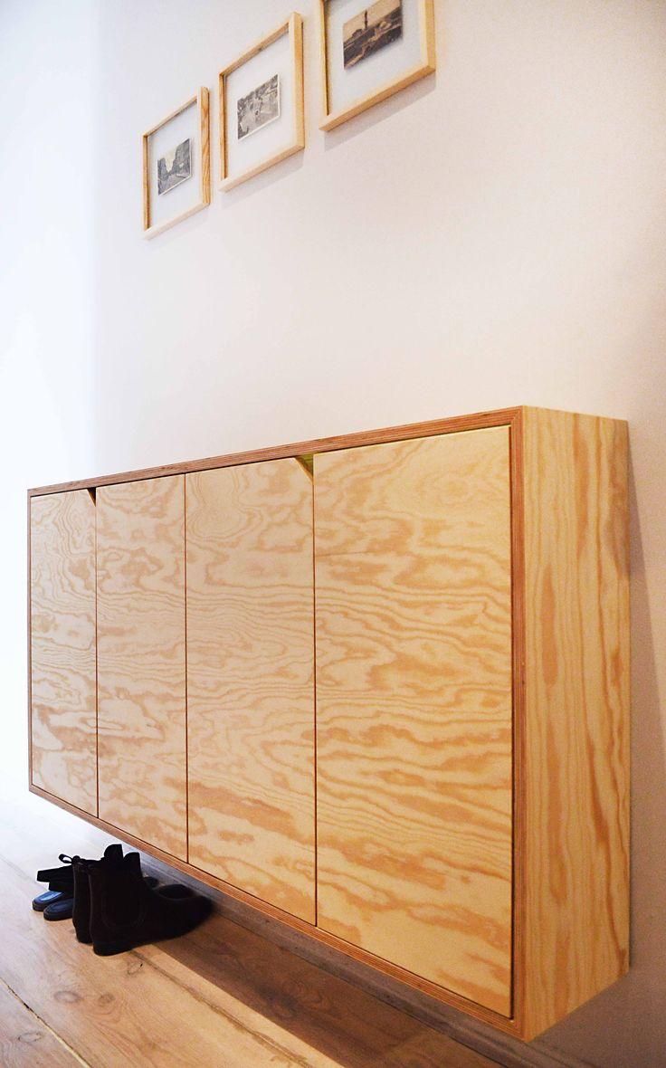 Seekiefer, pain wood, plywood cupboard, sideboard, cabinet.