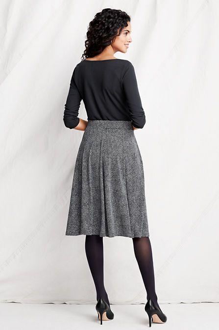 Jersey Knit Skirt Pattern : Womens Pattern Knit Matte Jersey Skirt from Lands End sewing proj...