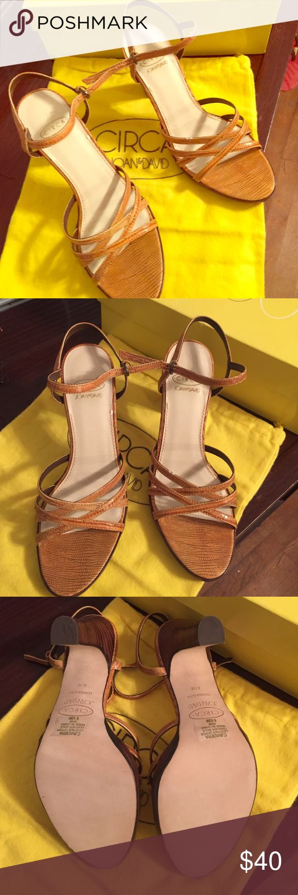 Circa Joan & David brown leather high heels NWOT Never worn gorgeous brown leather size 6 1/2 Circa Joan & David heels with original box and dust bag. Circa Joan & David  Shoes Heels