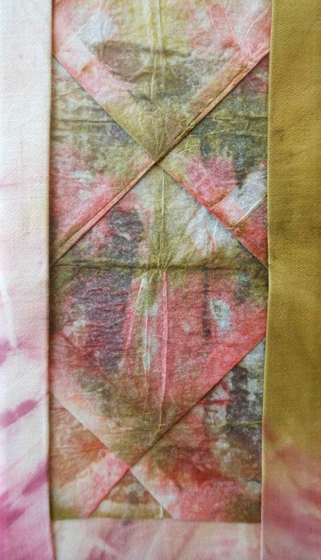 Jill Dian Izzard - hand dyed papers