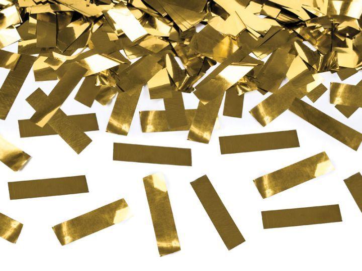 Confetti cannon - Goud. Wie wil dat nou niet, een confetti cannon? Super gaaf om af te knallen op jouw geweldige feestje, de gasten zullen er van opkijken! Ook leuk te gebruiken bij bruiloften of andere dansfeesten.