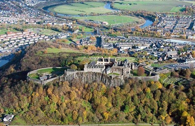 Castello di Stirling e dintorni dall alto