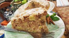 Torta de manzana y canela bien crocante