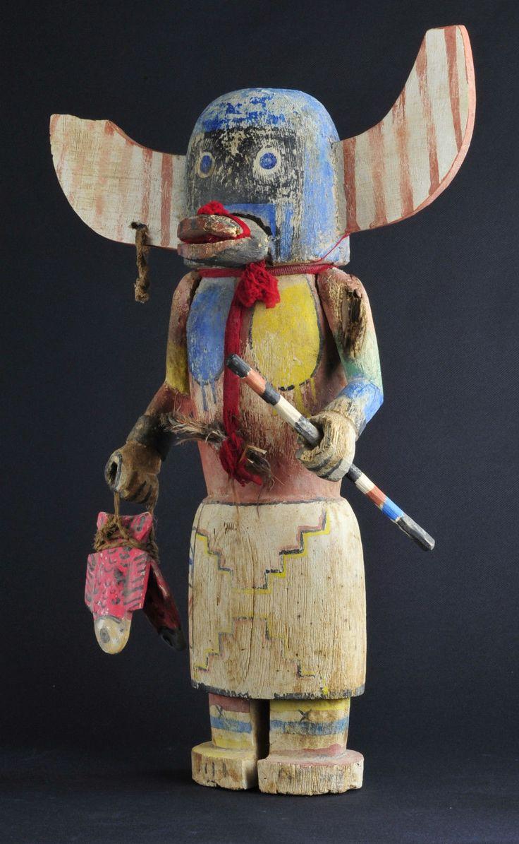 Vintage Hopi Indian Katsina Kachina Doll Native American Indian Statue Totem | eBay