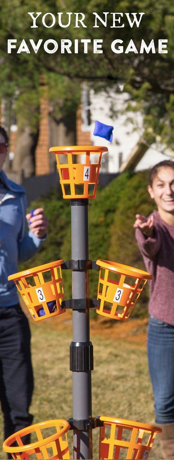 Camping Games - Take this portable game to the beach, camping, tailgating, or the backyard. It sets up fast and the rules are simple—toss bean bags into the baskets to score points.