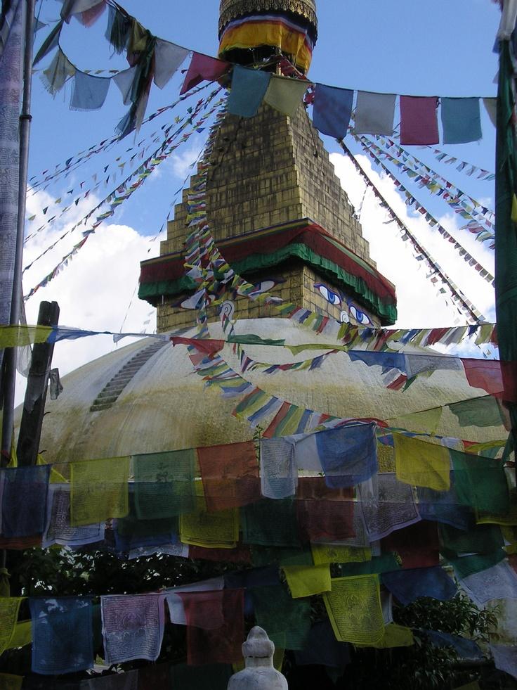 Image result for buddhist prayer flags monastery kathmandu war